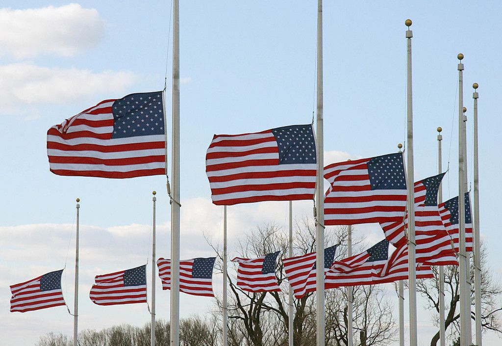Scared Of The Future God Is The Answer Half Mast Flags Half Staff Flags At Half Mast