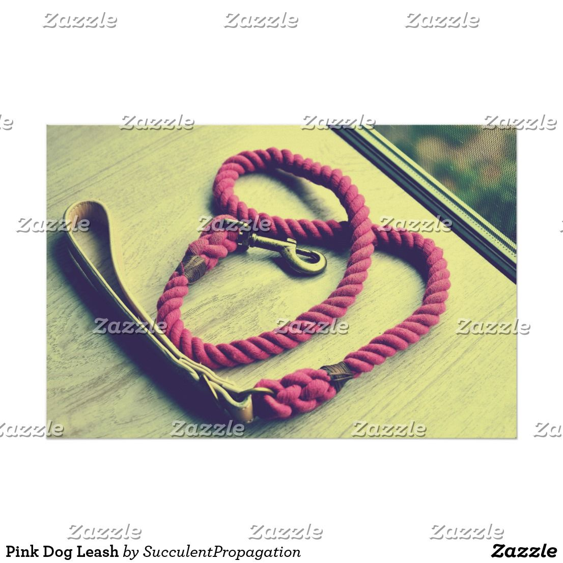 Pink Dog Leash wall art poster for your home, office, dorm, gifts ...