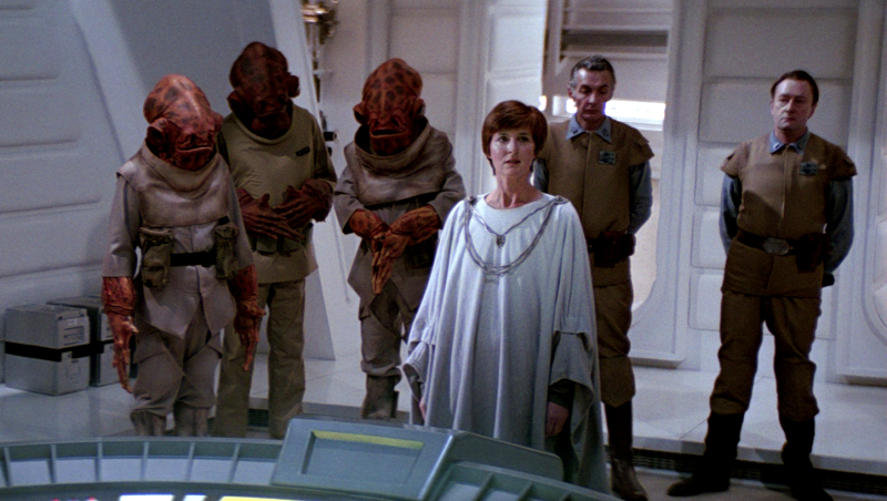"""The only Mon Mothma line anyone remembers in the original Star Wars trilogy is """"Many Bothans died to bring us this information."""" With Rogue One: A Star Wars Story being about the Rebellion stealing Death Star plans, everyone keeps making Bothan jokes. Please stop it. Because many Bothans did not die to bring us this specific information."""