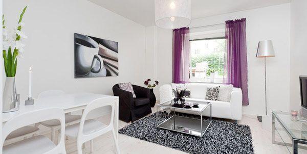 decoracin de casas pequeas un precioso apartamento moderno de 44 metros cuadrados - Como Decorar Una Casa Pequea