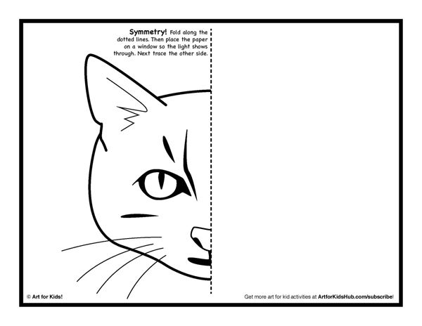 Symmetry ART Activity 5 Free Coloring Pages Art for Kids – Printable Art Worksheets
