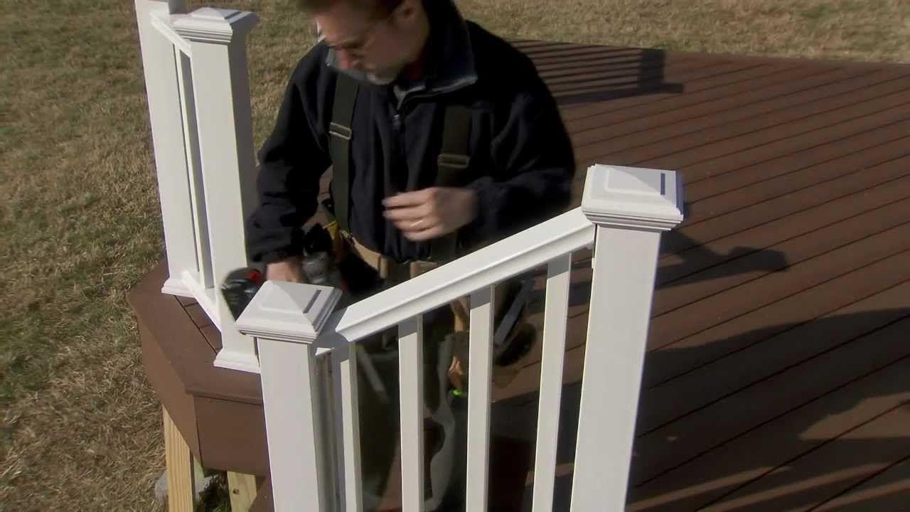 Best Installing Veranda Premium Composite Railing On Stairs 640 x 480