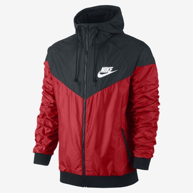 nike mens vapor jacket black/red