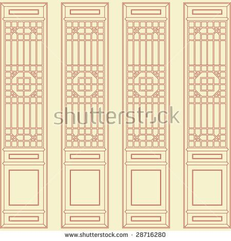 stock-vector-vector-of-traditional-chinese-classic-window-door-screen-frame-pattern-28716280.jpg (450×470)