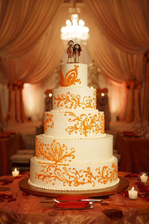 64a-orange-and-white-wedding-cake | Orange Crush | Pinterest | White ...