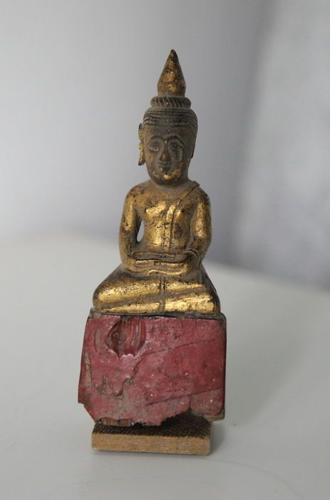 Catawiki online auction house: Wooden Lanna Buddha - Burma - end 19th c.