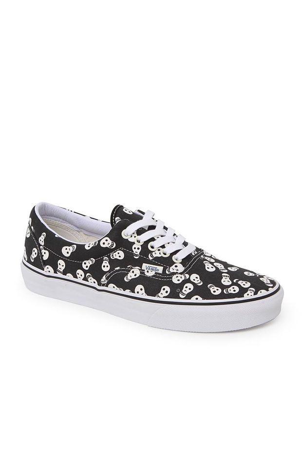 7a023185827da6 Vans Era Van Doren Skull Shoes - Mens Shoes - Black