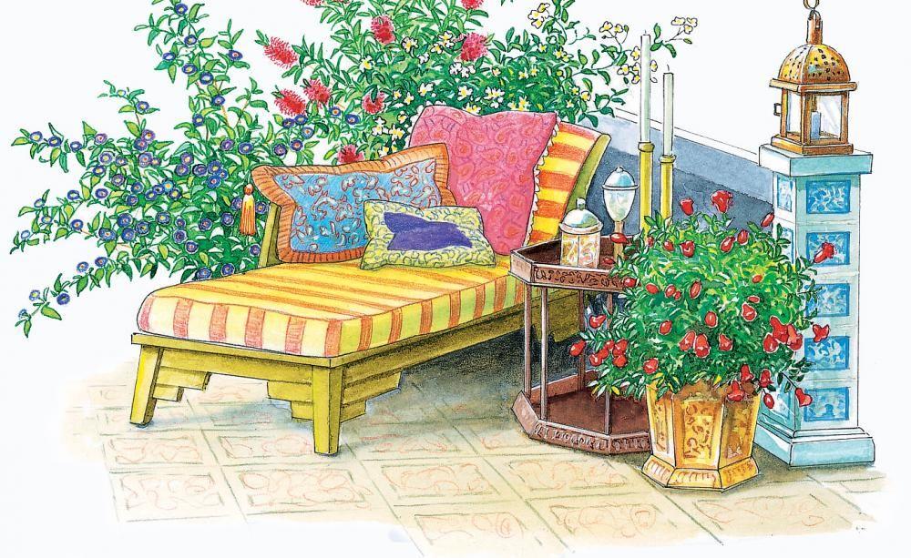 terrasse und sitzplatz mediterran gestalten pinterest k belpflanzen mediterran und orientalisch. Black Bedroom Furniture Sets. Home Design Ideas