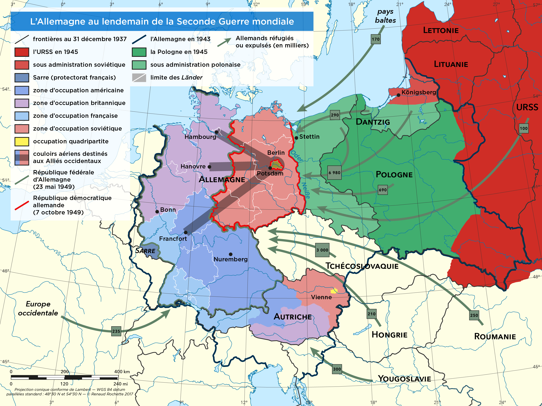 L Allemagne Au Lendemain De La Seconde Guerre Mondiale Allemagne Guerre Mondiale Guerre