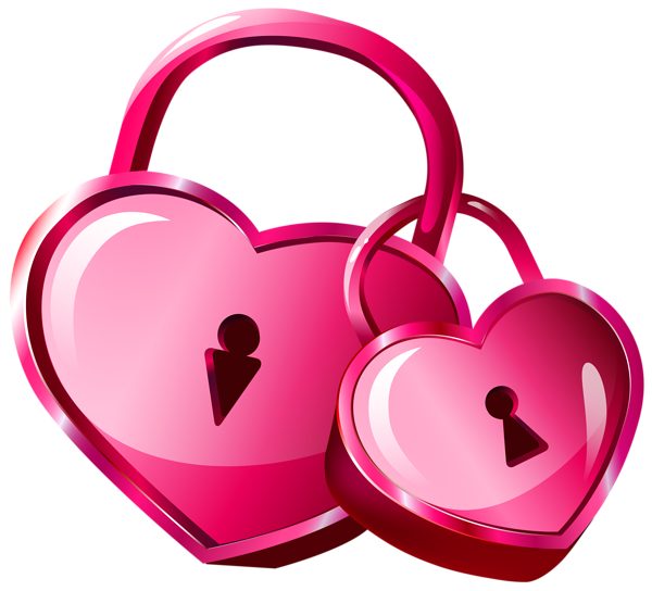 heart locks transparent png clip art image вален�инки