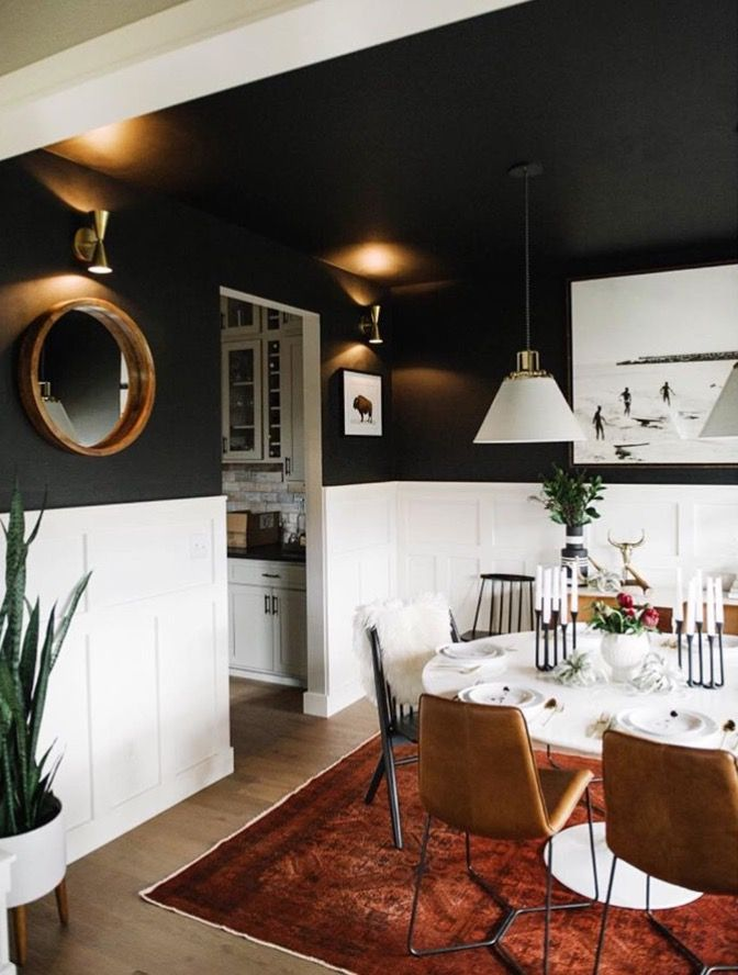 Pin By Typhene On Paint Colors Black Dining Room Dining Room