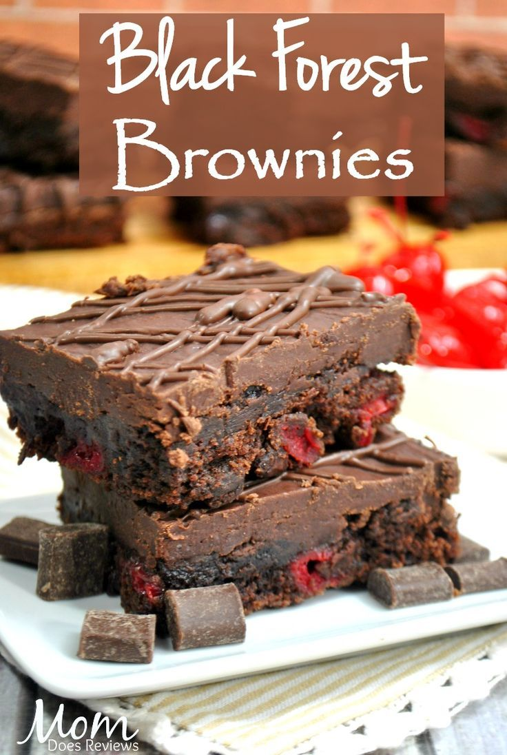 Black Forest Brownies- Rich, Gooey and Delicious! Black Forest brownies