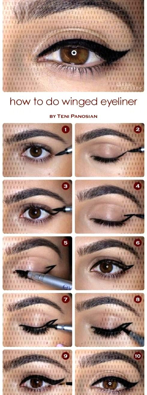 10 Easy Step-By-Step Eyeliner Tutorials For Beginners10 Easy Step-By-Step Eyeliner Tutorials For Be