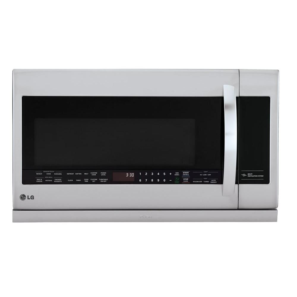Lg Electronics 2 2 Cu Ft Over The Range Microwave In Stainless Steel With Sensor Cook And Extendavent Silver In 2020 Microwave Microwave Oven Over Range Microwave