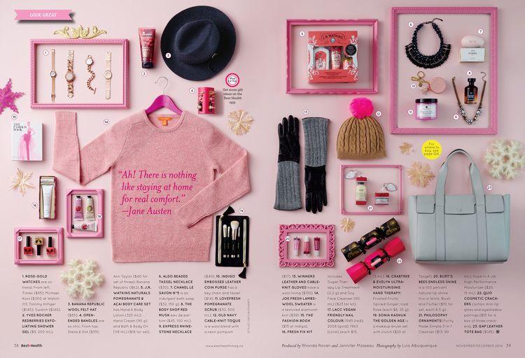 Gift Guide, Nov/Dec 2014 issue, Best Health Magazine