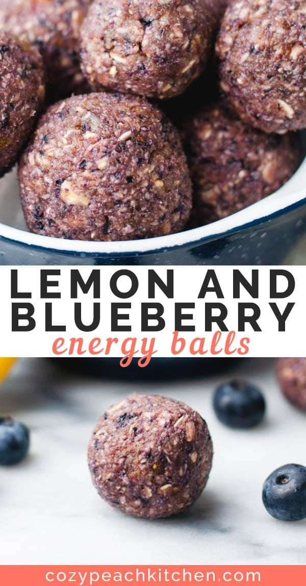 Blueberry Lemon Energy Balls