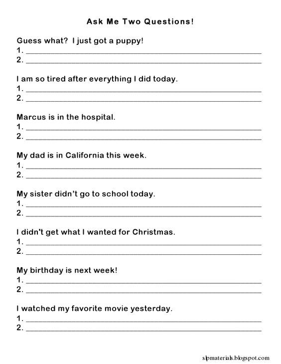 A worksheet to teach students how to respond by asking questions ...