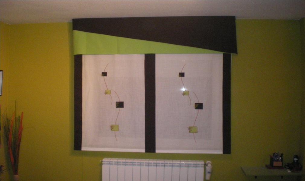 Estor con bando roman blinds ii estores confeccion de cortinas cortinas a medida cortinas - Estores personalizados con fotos ...