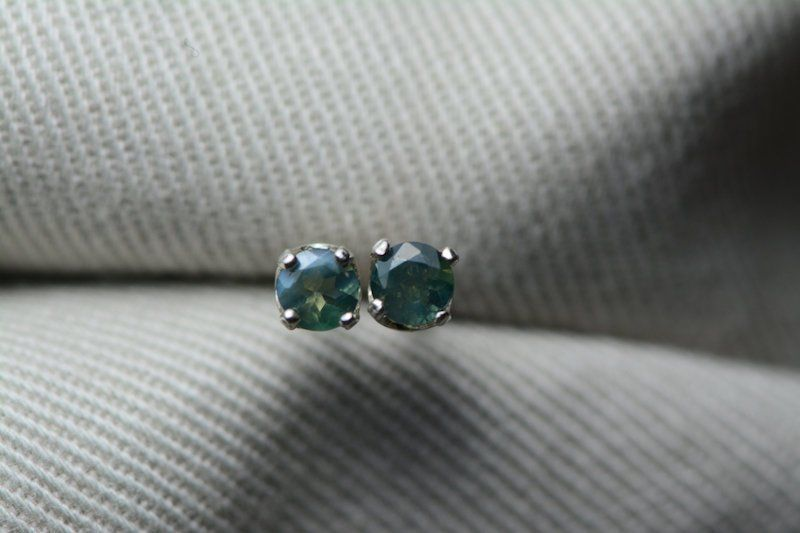 Alexandrite Earrings Certified Studs 0 36 Carats Color Change Genuine Natural Real June