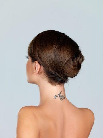 Neck Name Tattoo Ideas Back Of Neck Tattoo Black Ink Tattoos Neck Tattoos Women