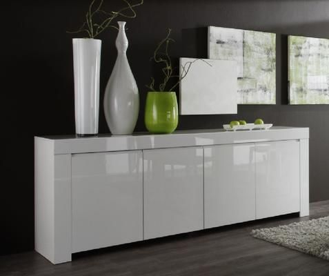 Amalfi Four Door Sideboard - White | There'S No Place Like Home