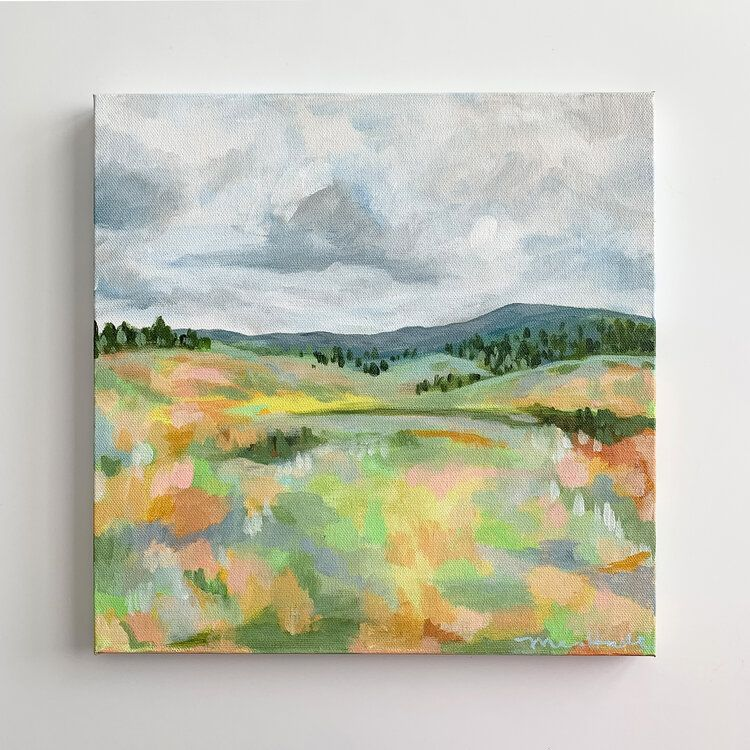 Original Abstract Landscape Painting In 2020 Mountain Landscape Painting Abstract Landscape Landscape Paintings