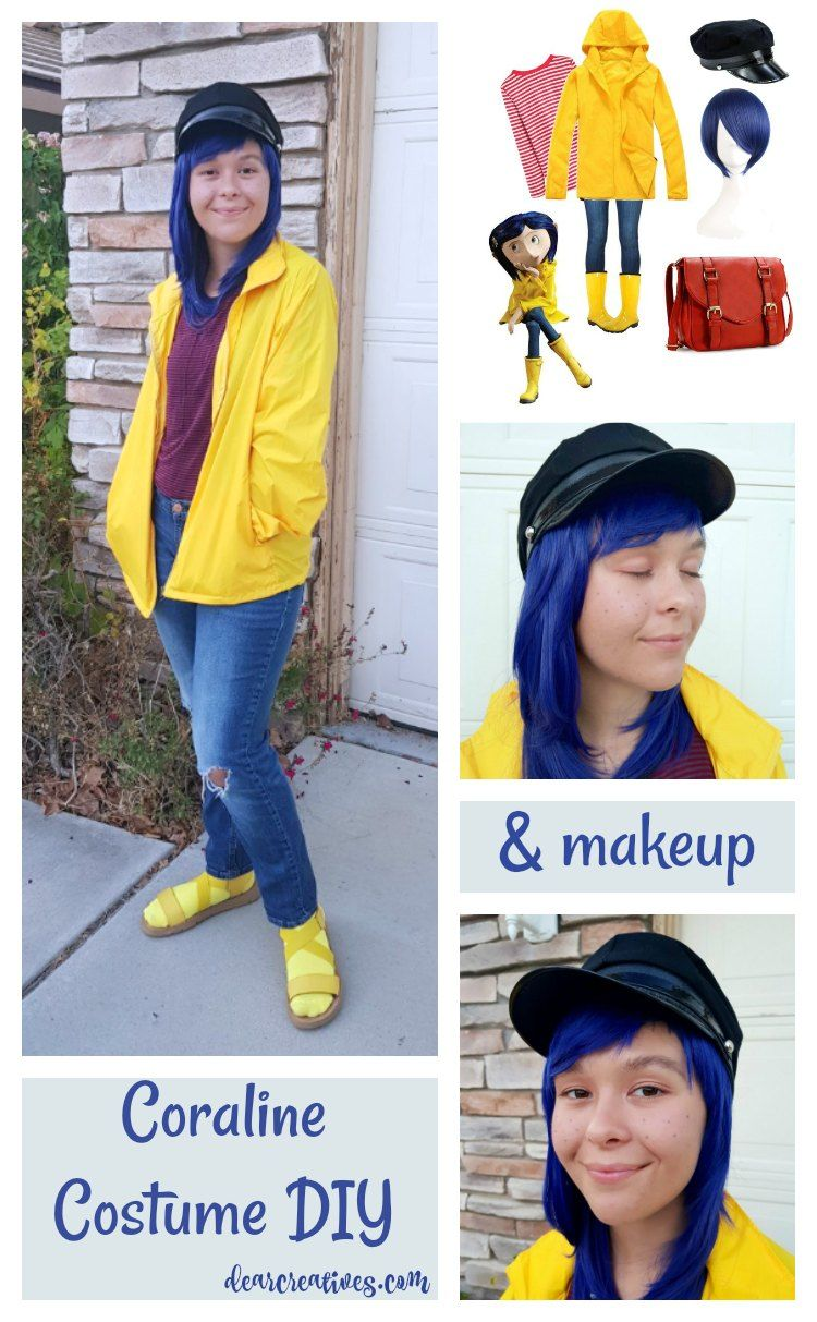 Easy No Sew Diy Coraline Halloween Costume Dearcreatives Com Coraline Halloween Costume Quick Easy Halloween Costumes Easy Halloween Costumes