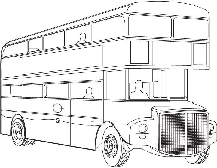 Double Decker Bus Coloring Page Mit Bildern Ausmalbilder Ausmalen