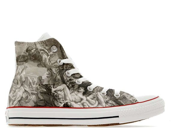 83e174894fe51f Angels and demons illustrated custom converse high top shoes horror ...