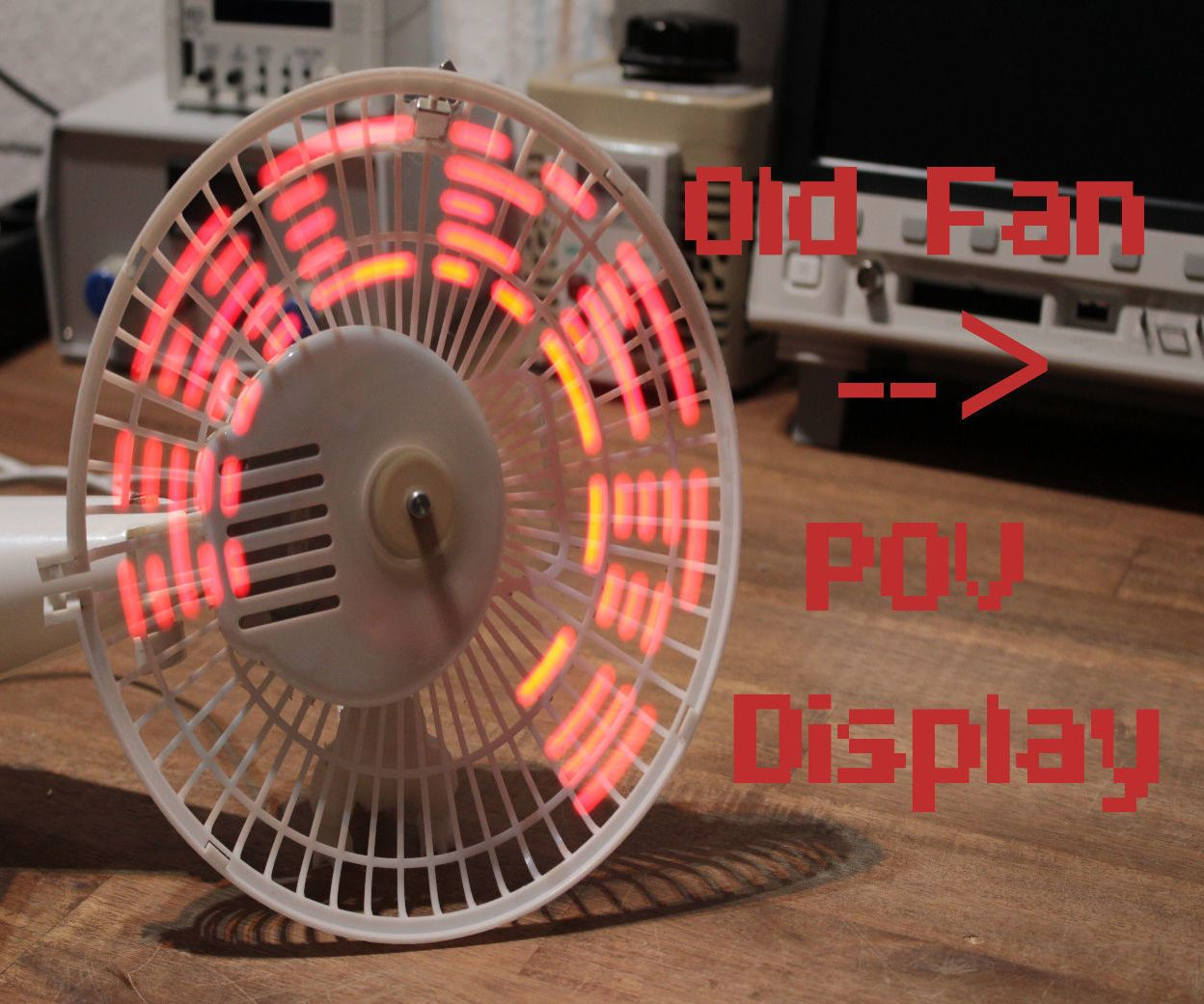 How To Make A Fan Pov Display Liitin Open Source Diy Projects Interface Microcontrollers At89c2051 And At894051 We Keep The Circuit In This Project I Will Show You Transformed An Ordinary Old Into Led Which Can Present Light Patterns Words Or Even Time