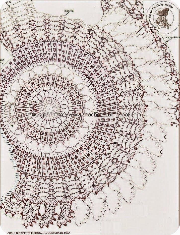 Jersey con Dibujo Central Patron - Patrones Crochet | crochet art ...