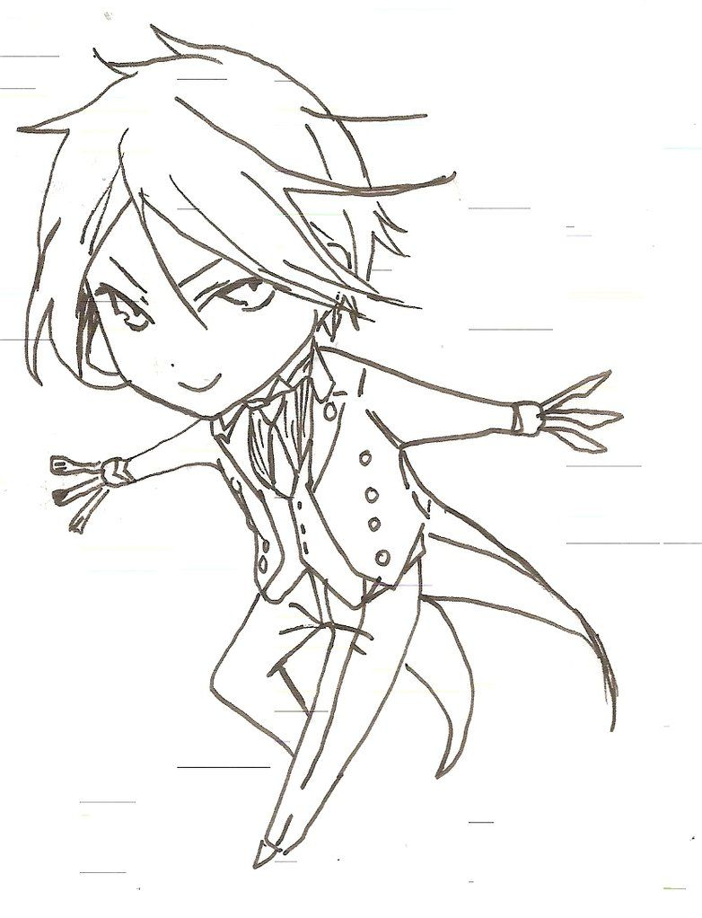image result for black butler coloring - Black Butler Chibi Coloring Pages