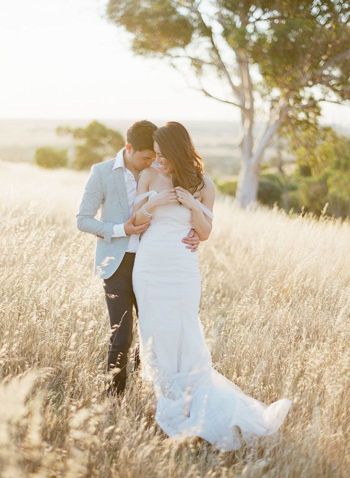 Elegant California Beach Engagement - Once Wed | Beach
