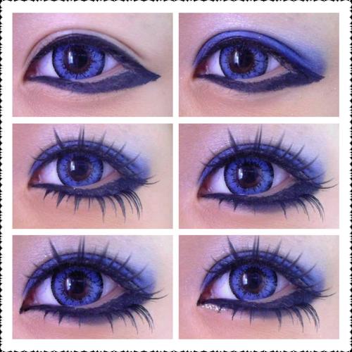 Auge Gyaru Blau
