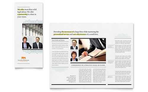 Attorney Tri Fold Brochure Template By Stocklayouts Government