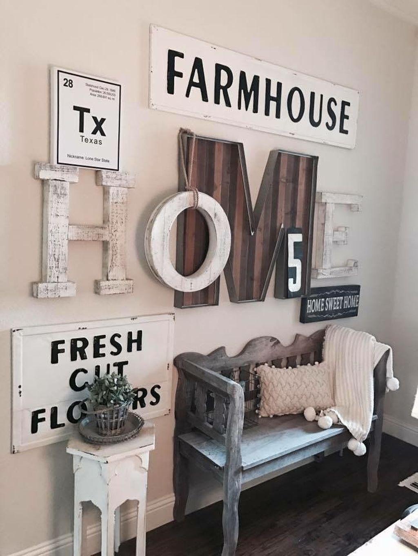 20 Superb Farmhouse Wall Decor Ideas For You Country House Decor Farmhouse Wall Decor Room Wall Decor