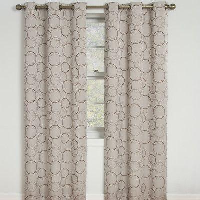 Varick Gallery Kips Bay Single Curtain Panel Color: