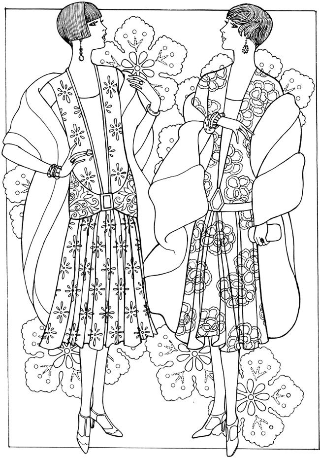 Creative Haven Art Deco Fashions Coloring Book Welcome to