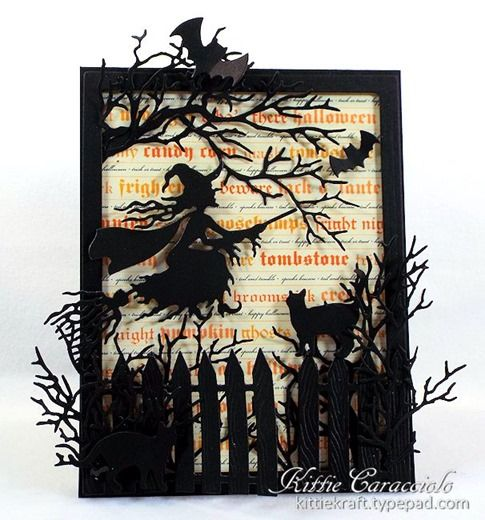 10/2/2014; Kittie Caracciolo on her blog; Impression Obsession Witch Flying