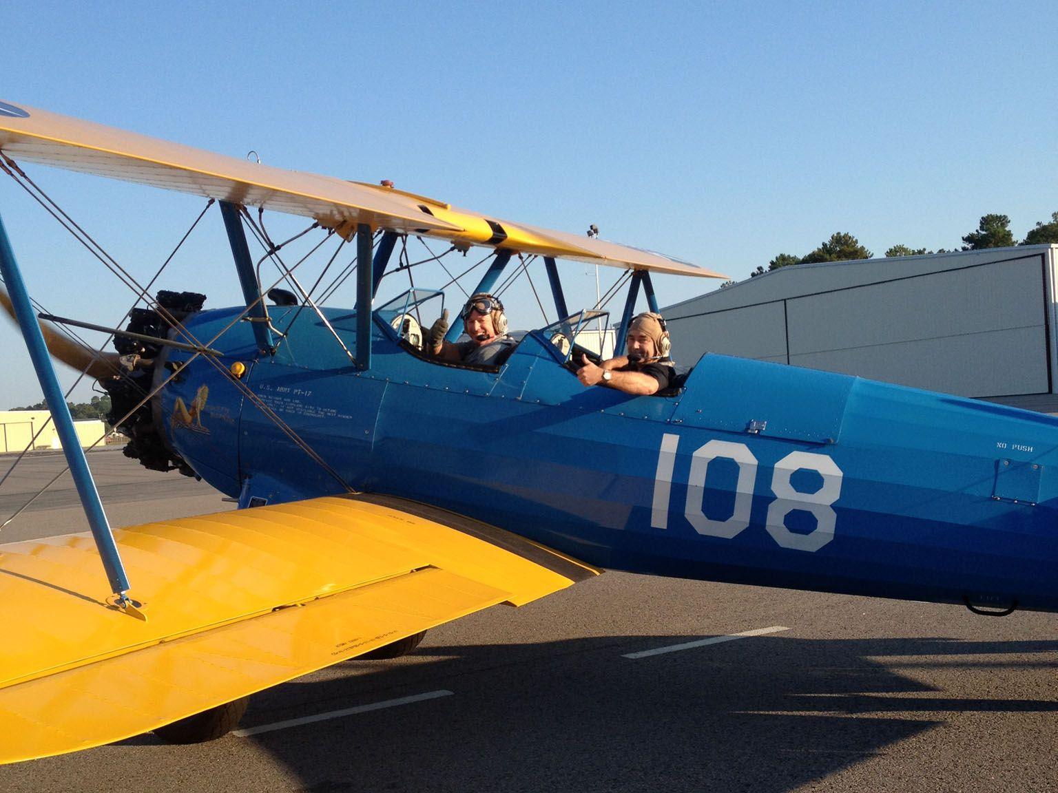 My ride in Stearman biplane at Columbia Owens Field