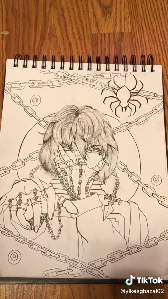 Photo of kurapika drawing