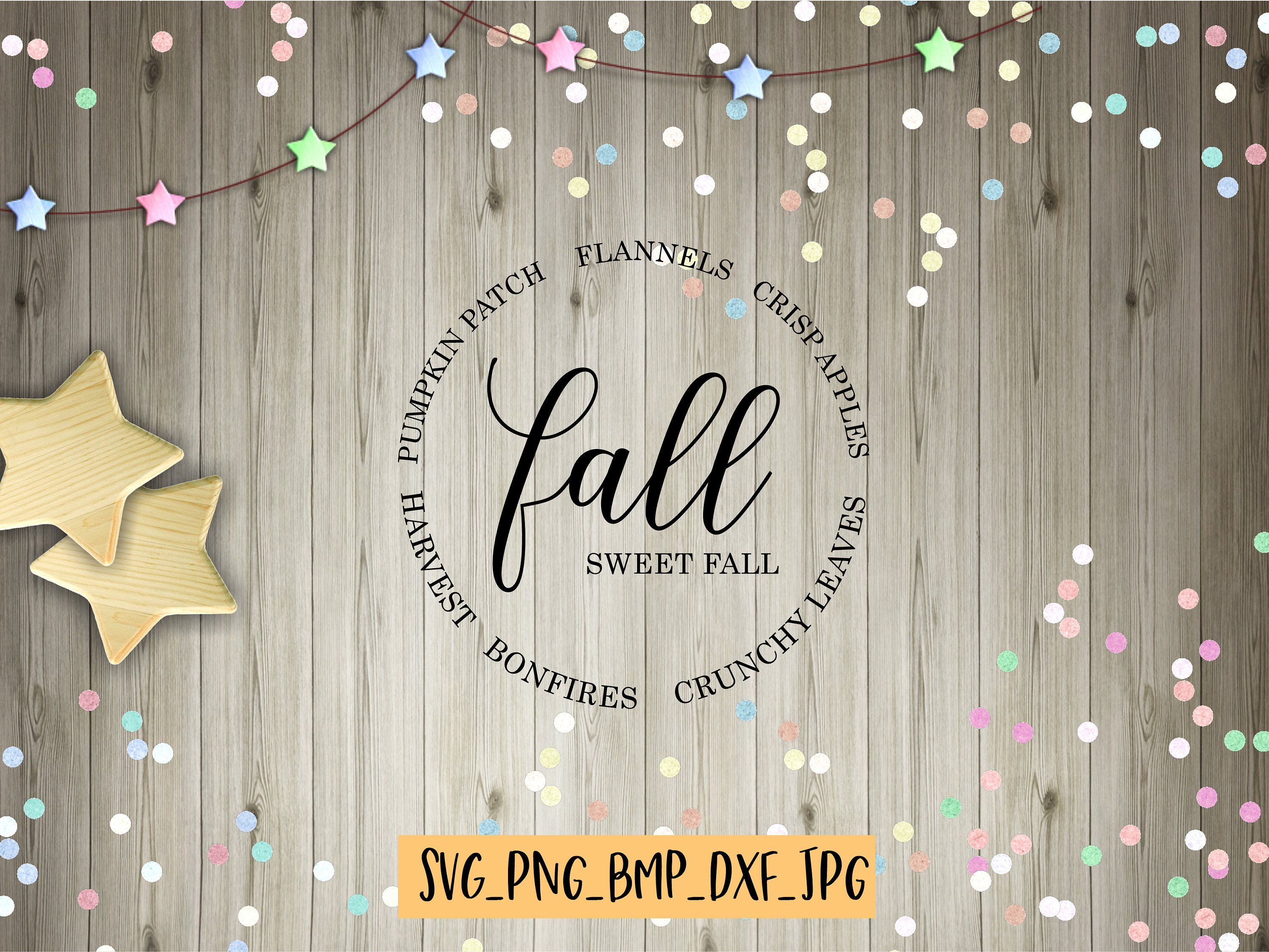 Brand New Rustic Fall Round Fall Svg File//Digital Download
