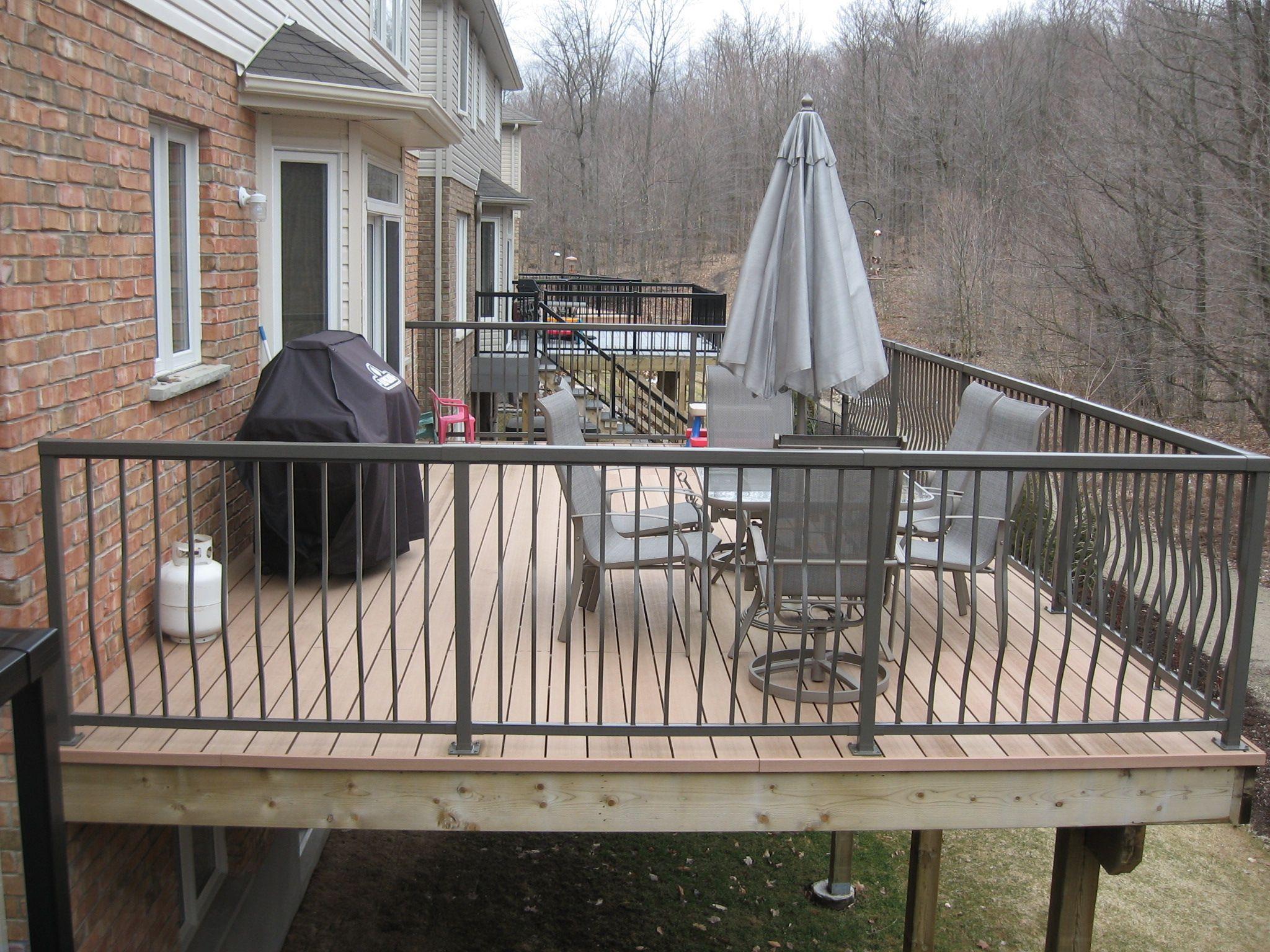 Probuilt aluminum railing sandalwood colour railing systems probuilt aluminum railing sandalwood colour baanklon Image collections