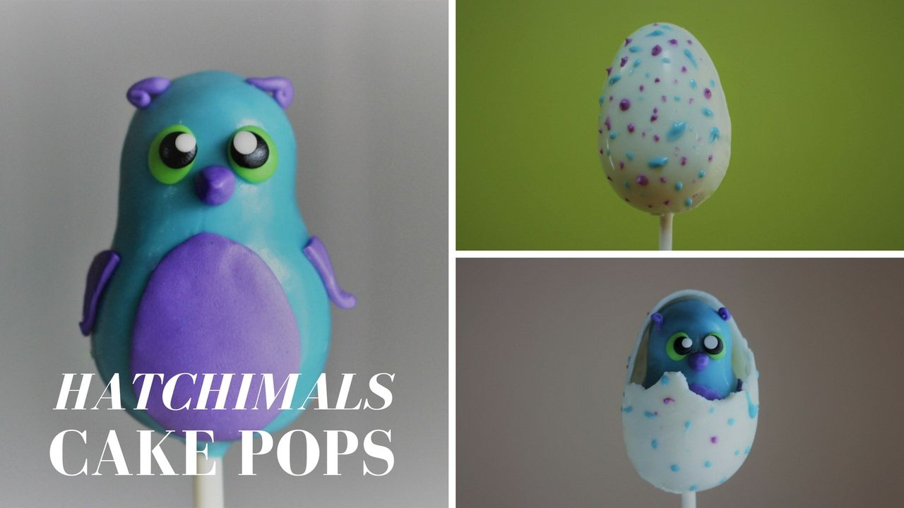 Hatchimals Cake Pop Tutorial! | Cake Pops, Cookie Ideas and ...