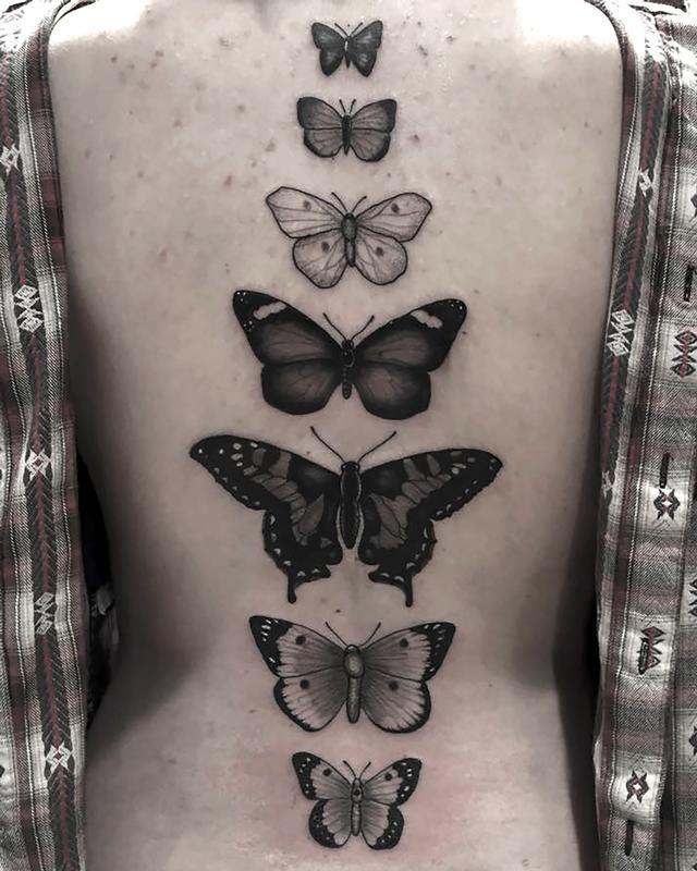 Black and Grey Butterflies by Eddie Zavala - Black and ... - photo#32