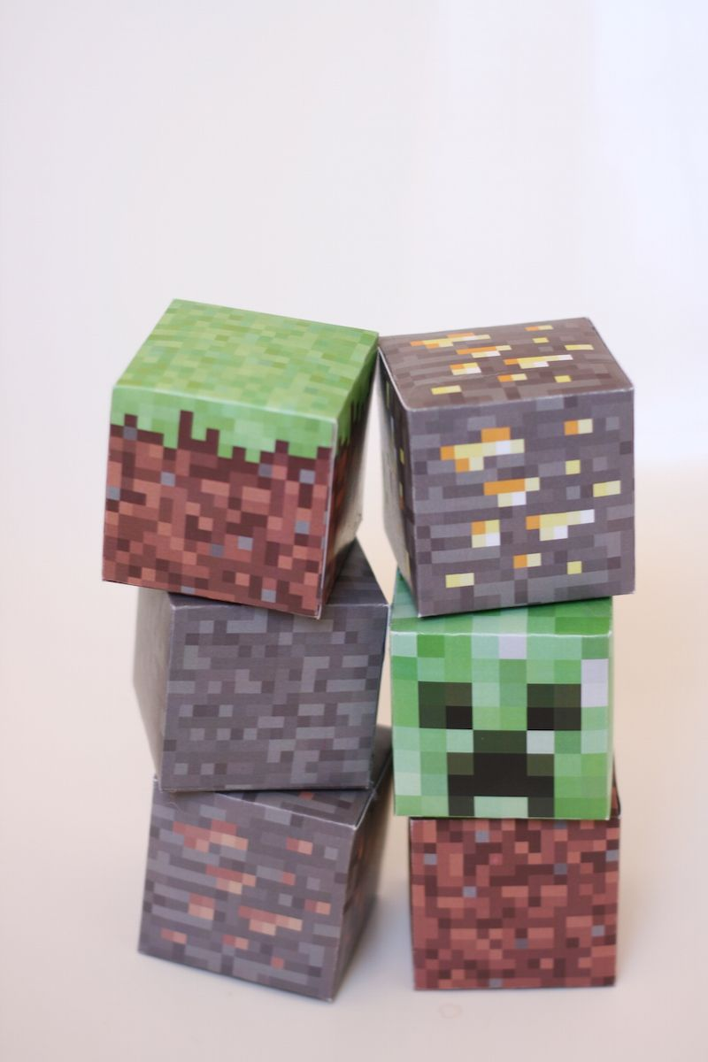 Resource image in printable minecraft blocks