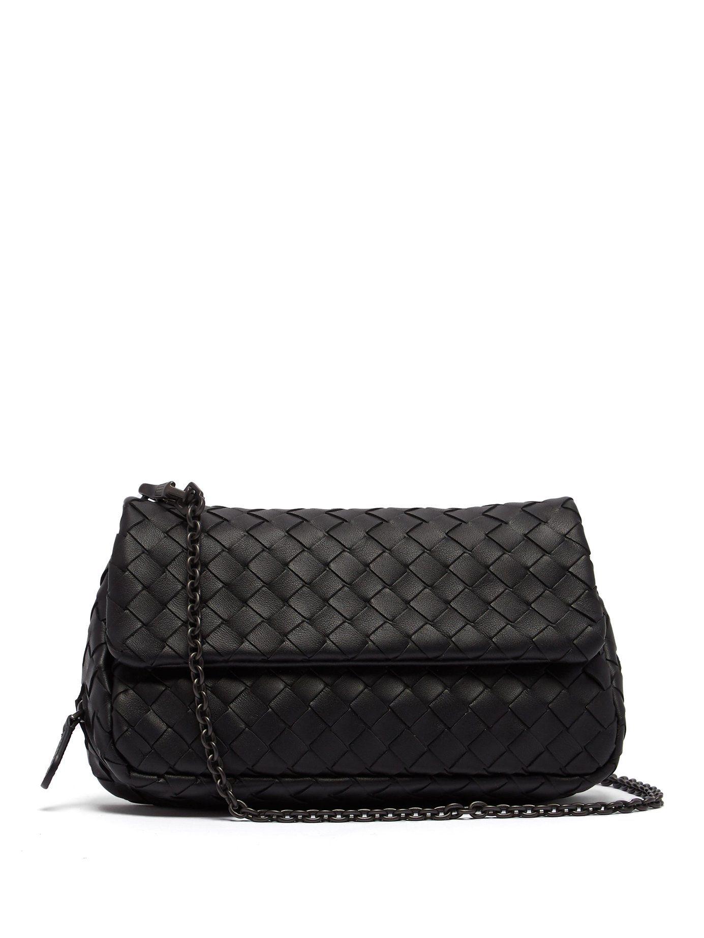 e4b46cee64 Intrecciato mini leather cross-body bag