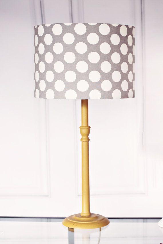 Lamp Shades Grey Lampshade Handmade Lampshade Childrens