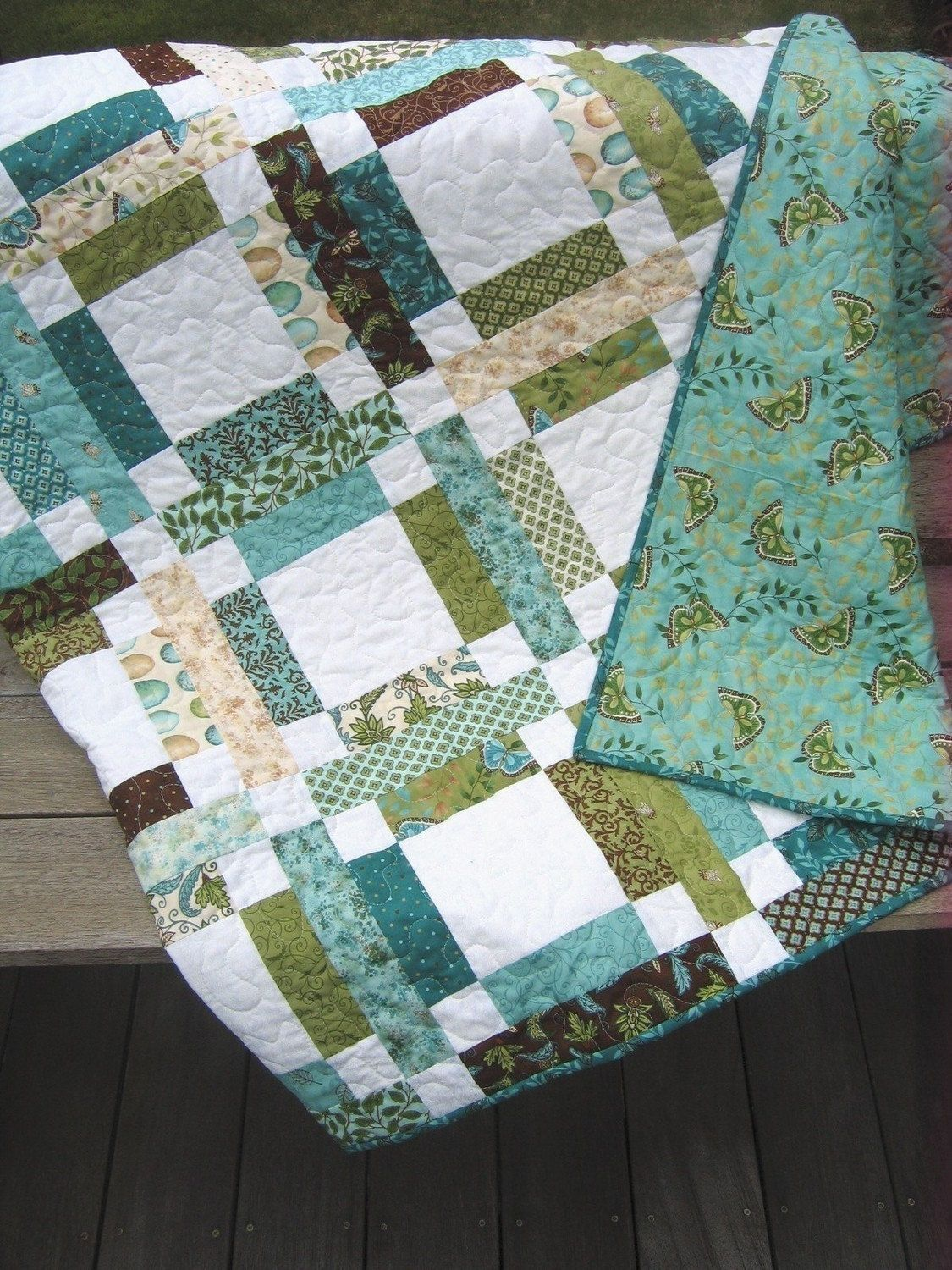 Patchwork quilt pattern jelly roll or fat quarters quick and easy sweet jane ebay