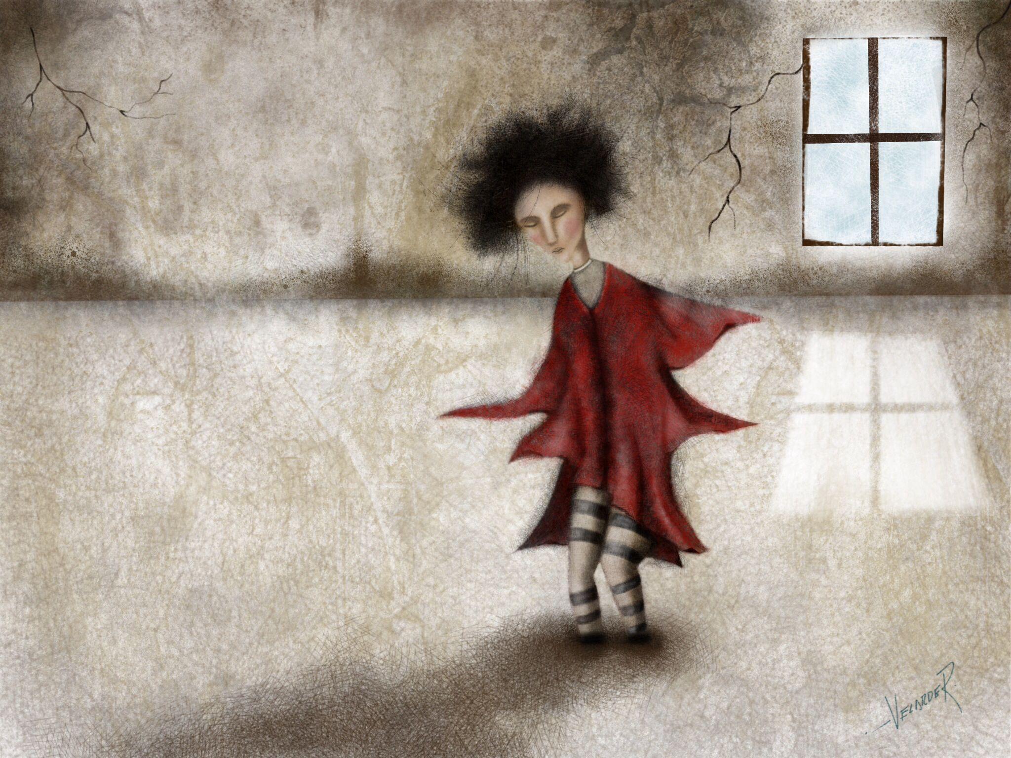 """""""Miedos"""" Ilustración ProCreate iPad"""